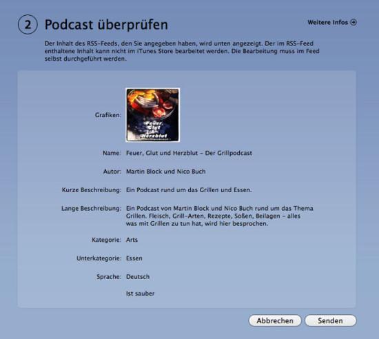 iTunes Eintrag