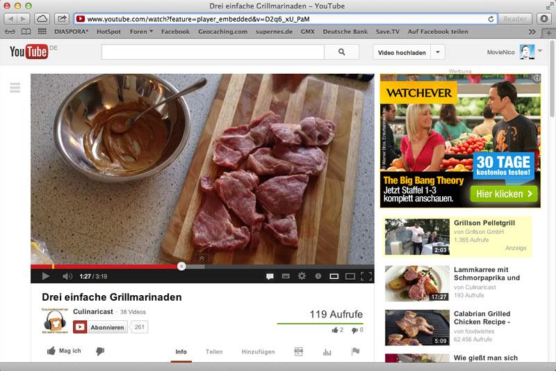 Youtube Grillmarinaden