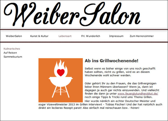 Weibersalon Screen