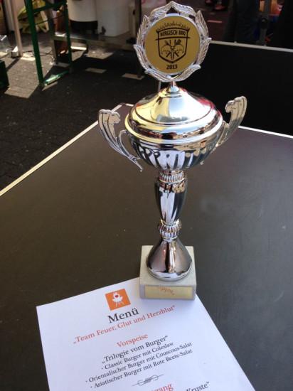Pokal 3. Platz Burger 2013