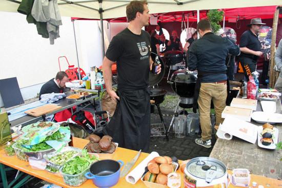 FGH-Stand auf der 7. Bergisch BBQ Grillmeisterschaft - Arbeitsbereich