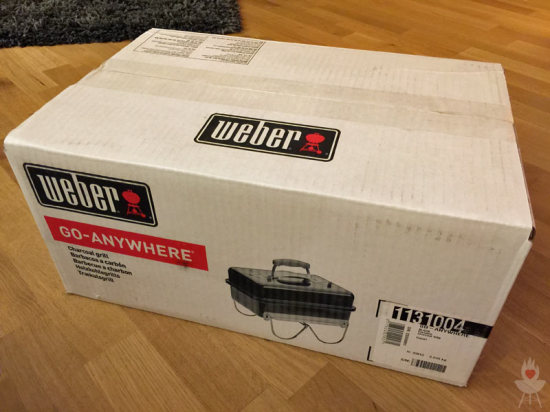 Weber Go-Anywhere Verpackung