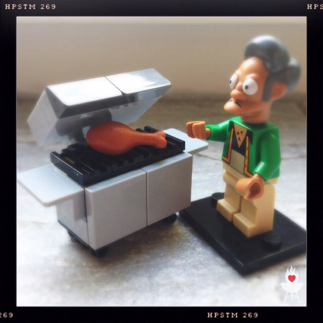 Lego-Grill mit Apu