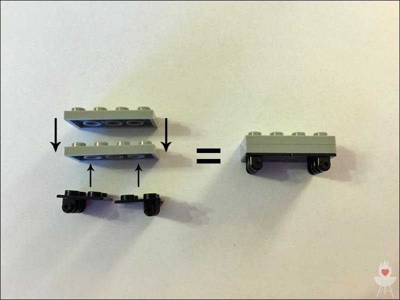 Lego-Grill Bauschritt 1