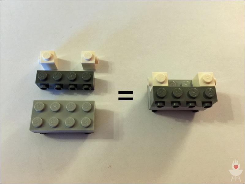 Lego-Grill Bauschritt 2