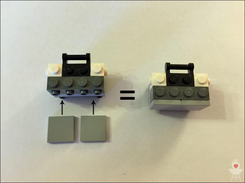 Lego-Grill Bauschritt 4