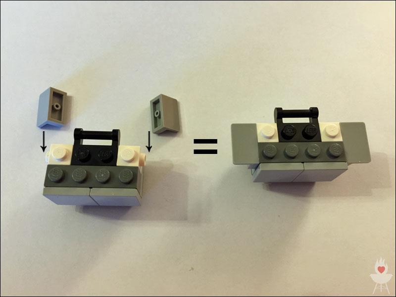 Lego-Grill Bauschritt 5