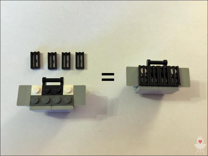 Lego-Grill Bauschritt 6
