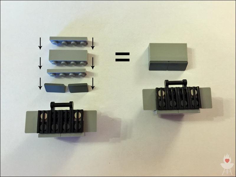 Lego-Grill Bauschritt 7