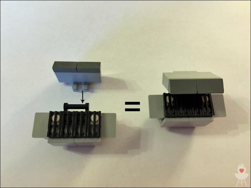 Lego-Grill Bauschritt 9