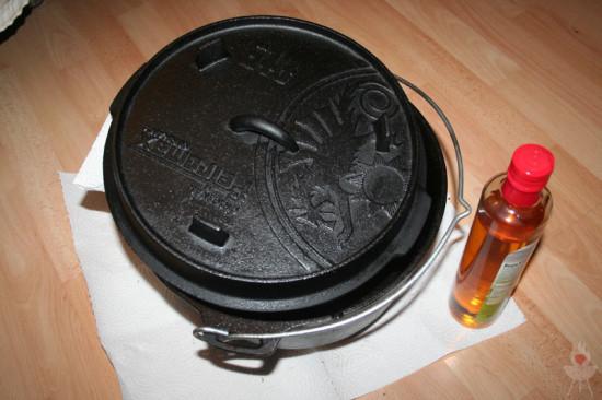 Petromax Feuertopf einölen