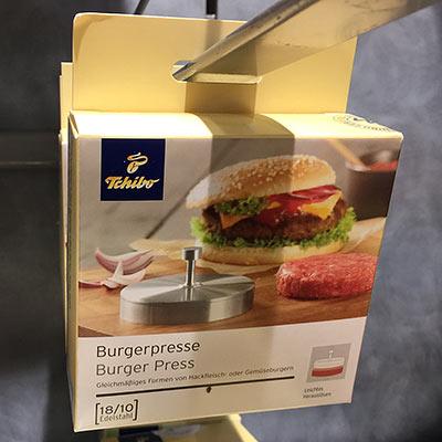 Burgerpresse Tchibo Verpackung
