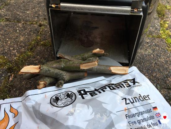 Raketenofen Petromax rf33 Brennmaterial