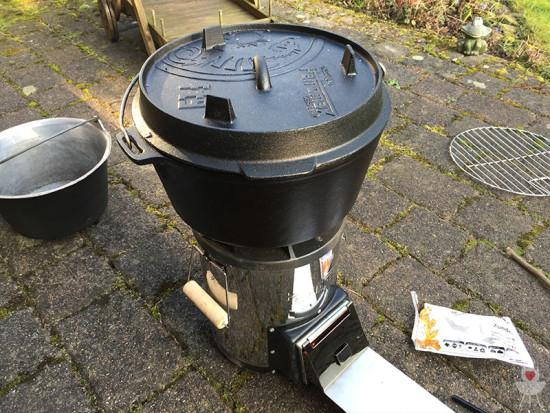 Raketenofen Petromax rf33 mit Dutch Oven