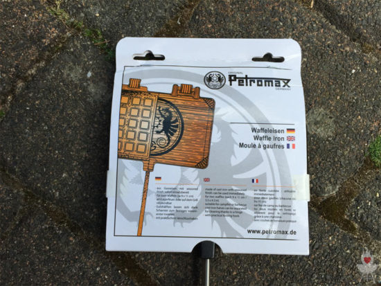 Petromax Waffeleisen Verpackung