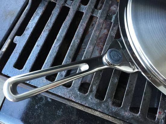 Edelstahl-Plancha von SteakChamp Griff lang