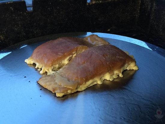 Edelstahl-Plancha von SteakChamp Lachs seitlich