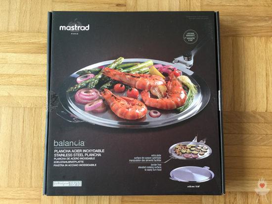 Edelstahl-Plancha von SteakChamp Verpackung