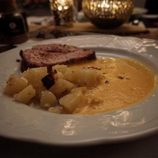 4. Gang - Dry Aged Stauferico-Kotelett mit Chorizo-Espuma