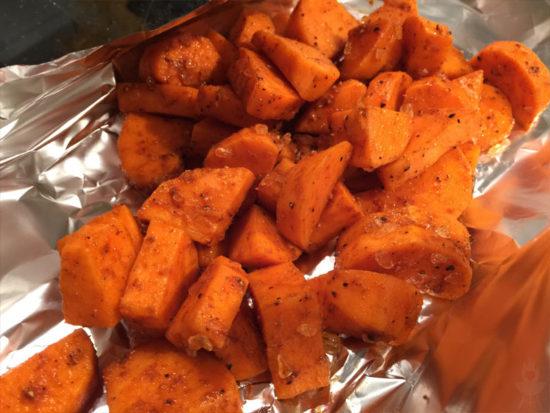 Süßkartoffeln gewürzt