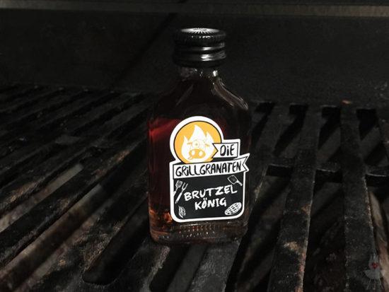 Die Grillgranaten Einzelflasche Brutzelkönig