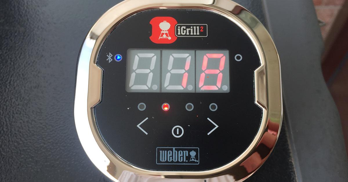 Weber Elektrogrill Mit Thermometer : Igrill bluetooth thermometer im test u a feuer glut und herzblut