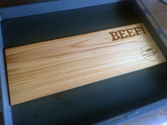 BEEF! Luxus-Lachs Box Deutsche See Brett wässern