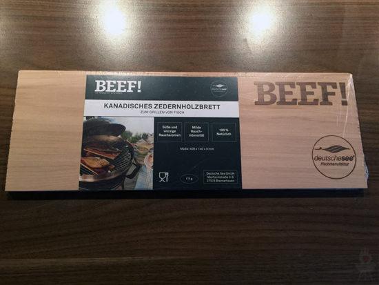 BEEF! Luxus-Lachs Box Deutsche See Räucherbrett