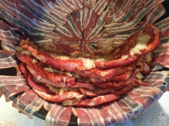 Schichtfleisch-Rezept halb geschichtet