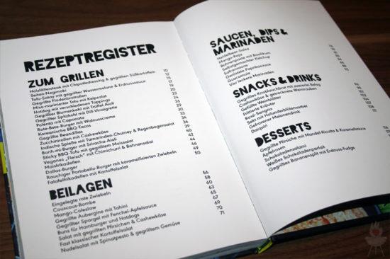 Vegan Grillen: Genial gut Rezeptregister