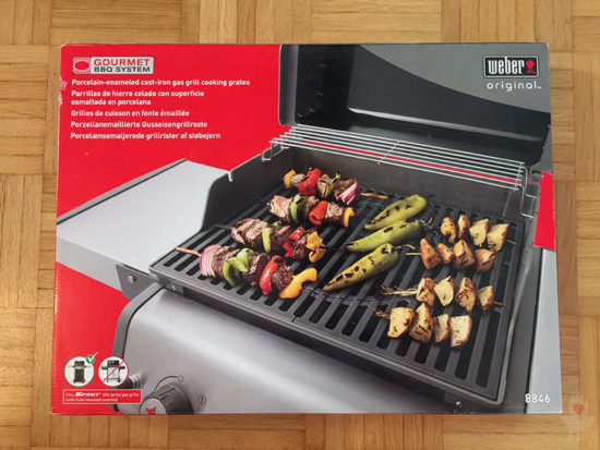 Weber GBS Verpackung (Gourmet BBQ System)