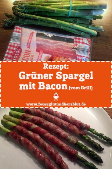 Rezept: Grüner Spargel mit Bacon vom Grill