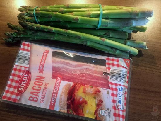 Grüner Spargel mit Bacon - Zutaten