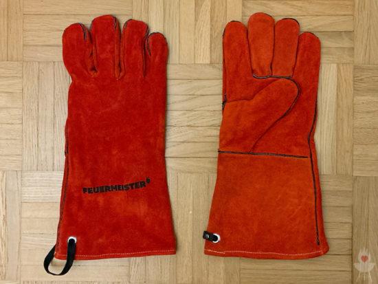 Feuermeister-Grillhandschuhe rot