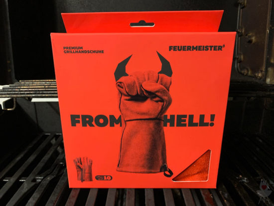 Feuermeister-Grillhandschuhe - rot - Verpackung