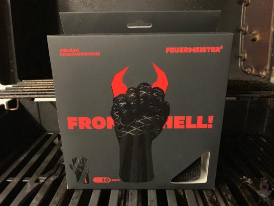 Feuermeister-Grillhandschuhe - schwarz - Verpackung