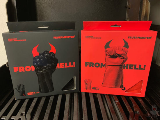 Feuermeister-Grillhandschuhe - Verpackungen