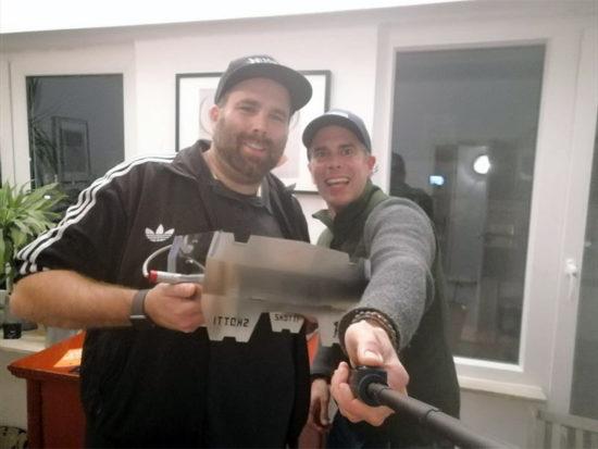 Martin und Christian mit dem Skotti-Grill