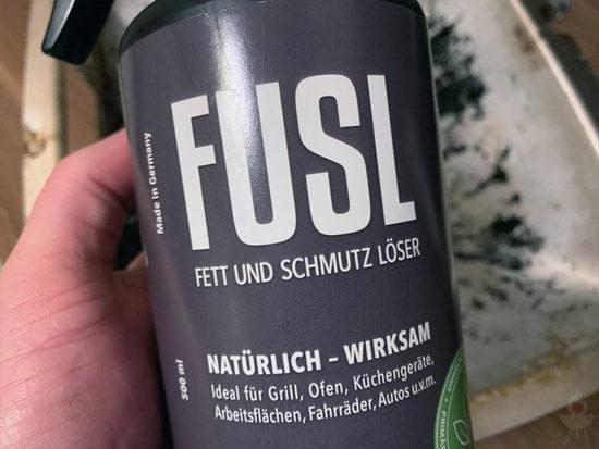 FUSL-Grillreiniger Etikett