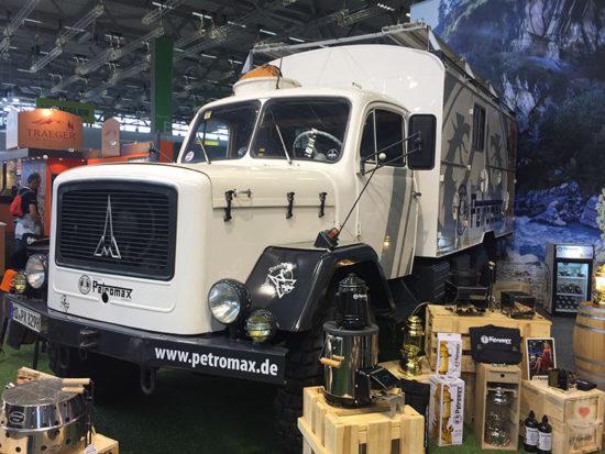 Petromax-Dieselhexe von schräg vorne