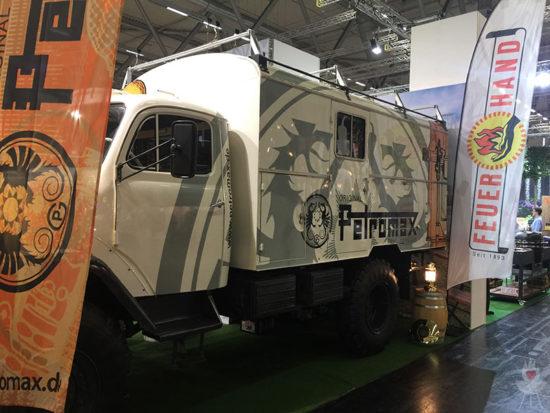 Petromax-Dieselhexe von der Seite